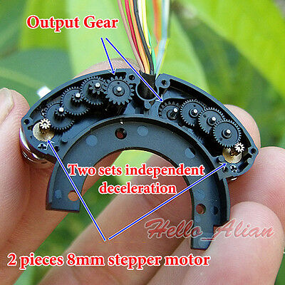 2PCS Mini 8mm Stepper Motor 2-Phase 4-Wire With W/Copper Gear For Digital Camera 3