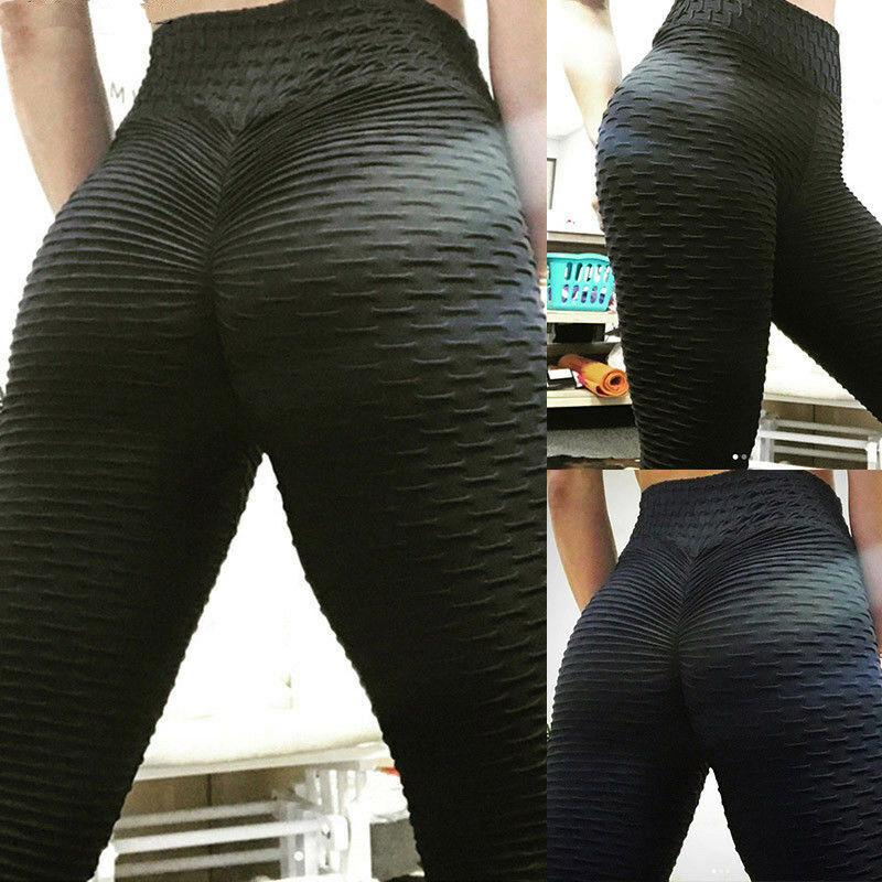 b8585fcb0ad656 HOT Women Push Up Sports Scrunch Butt Lift Elastic Leggings Gym Yoga Sexy  Pants 4 4 of 8 See More