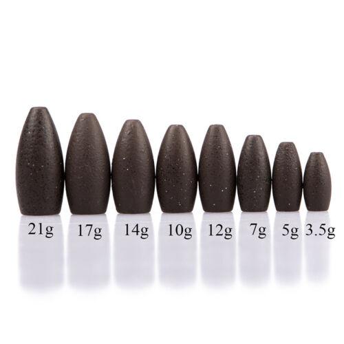 Tungsten Worm Flippings Weights Black Bullet Bass Fishing Sinker Tackle fishings 11