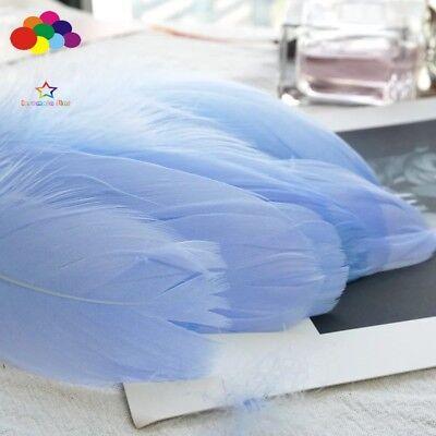 100pcs Natural Goose Feathers 8-12 Cm Swan Plume DIY Carnival Decoration Craft 10
