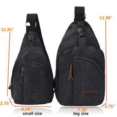 Men's Small Chest Sling Bag Travel Hiking Cross Body Messenger Shoulder Backpack 3