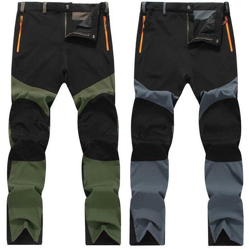 Men Tactical Trousers Waterproof Hiking Climbing Sport Combat Cargo Work Pants 4