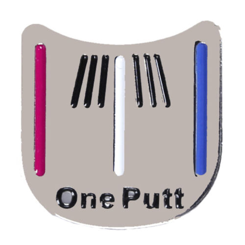 One Putt Golf Alignment Aiming Tool Ball Marker Magnetic Visor Hat Clip Pro HOT