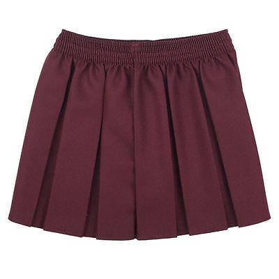 Girls School Uniform Box Pleated Elasticated waist school kids Skirt All Ages 8
