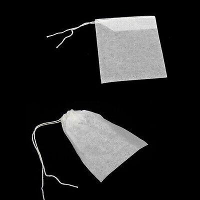 100x vides sacs à thé ficelle chaleur filtre papier filtre à thé sachets de thé^ 7