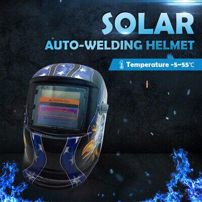 New Solar Auto Darkening Welding Helmet Mask ARC TIG MAG High Quality AU 11