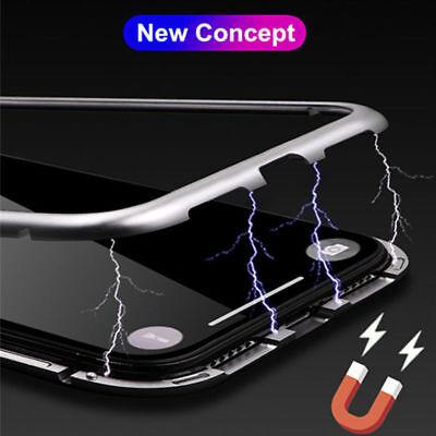 Coque Protection Magnétique Arrière Verre Trempé iPhone 6 6S 7 Plus 8 XR X S MAX 4