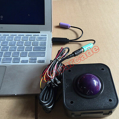 ARCADE USB TO PS/2 PS2 LED Trackball Mouse Converter Cable Adapter for MAME