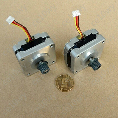 39mm Stepper Motor 2-phase 4-wire 0.9 Deg Ultra-thin Stepping Motor with Pulley 6