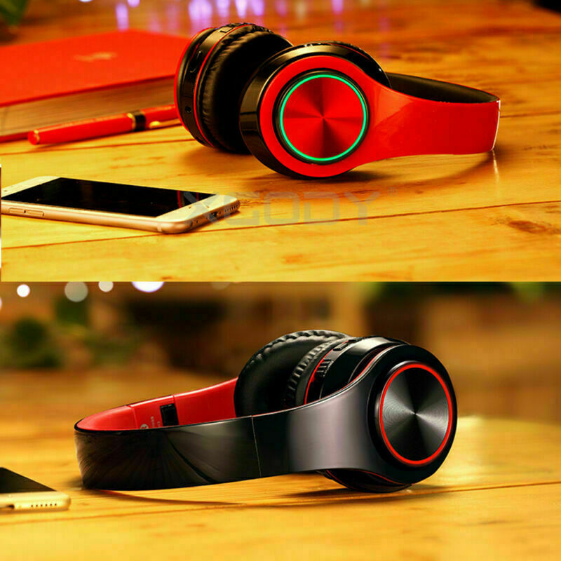 Wireless Headphones Stereo Bluetooth Headset Noise Cancelling Over Ear With Mic 12
