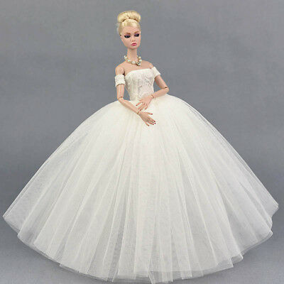 """Doll Dress Costume Elegant Lady Wedding Dress For 11.5"""" Doll Clothes Outfits Toy 9"""