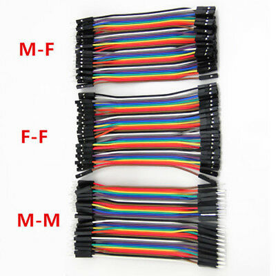 Male to Female Dupont wire cables Jumpers Cable Breadboard For Arduino 120X Kit 2