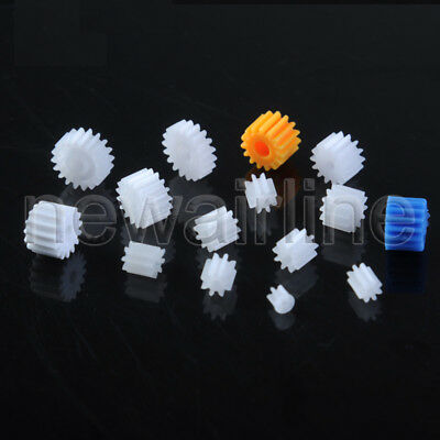 5pc 6/8/9/10/12/14/15/18T Teeth 0.4/0.5 Mold 1-3mm Hole Motor Plastic Gear Wheel