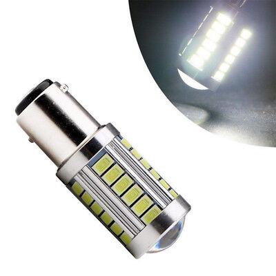 2PCS Bianco BA15D 33SMD LED 1157 Auto Coda Freno Stop Coda Lampadina Globo 12v 6