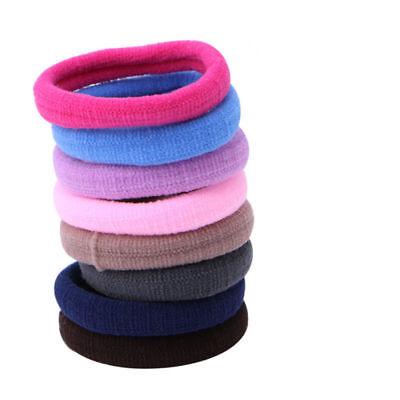 Lots 50/100Pcs Girls elastic hair ties band rope ponytail bracelets scrunchie 8