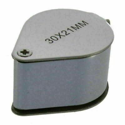 30X21 Triplet Jeweler Eye Loupe Magnifier Magnifying Glass Jewelry Diamond+Box 7