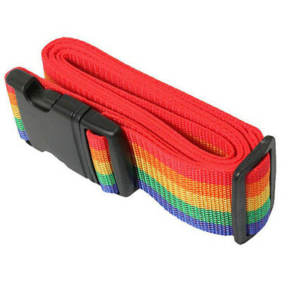 Rainbow Travelling Backpack Bag Luggage Suitcase Straps Adjustable Baggage Belt 9