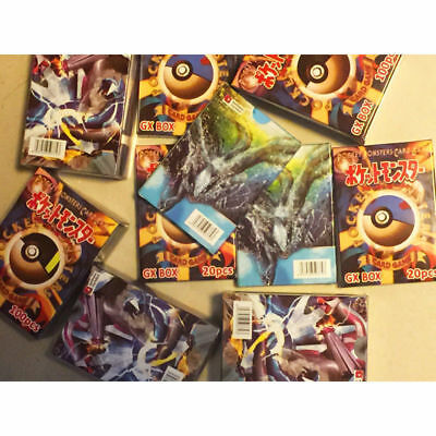 120pcs Pokemon Cards 100 GX + 20 MEGA Booster Box English Edition Break Point 2A 2