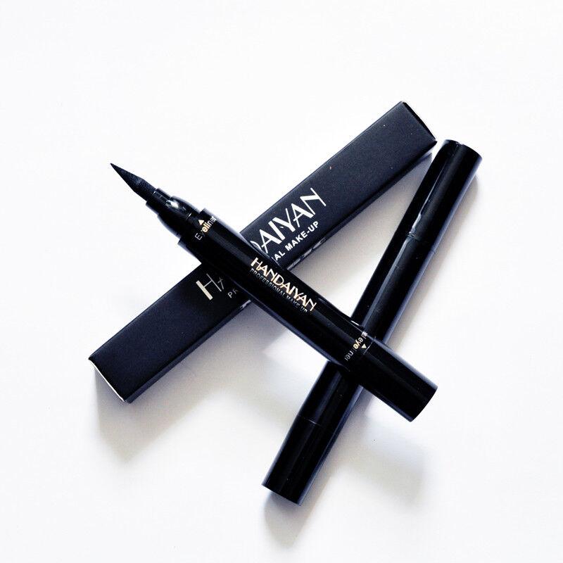 Dual-ended Liquid Eyeliner Black Pen with Stamp Seal Waterproof Eye Makeup Tools 3
