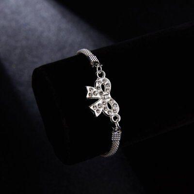 Wedding Banquet Crystal Silver Aniaml Bracelet Charm Bangle Women Jewelry Gift