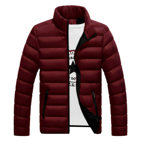 Men's Winter Lightweight Down Jacket Quilted Padded Puffer Coat Outwear Overcoat 7