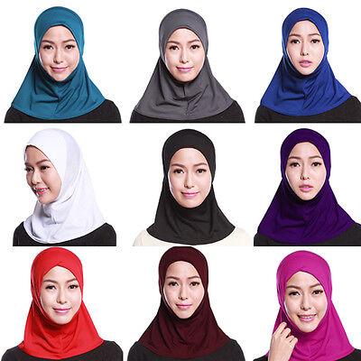 Donna Sotto Sciarpa Cappello Cappello Ninja Hijab Islamico Collo Copertura 4