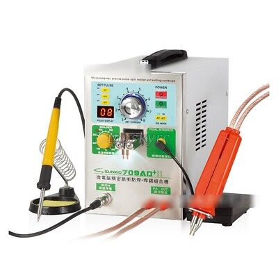 110V SUNKKO 709AD+ Battery Pulse Spot Welder For 18650 + 70B Welding Pen 3 in 1 5