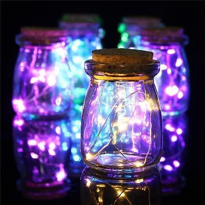20/50/100 LEDs AA Battery Operated Mini LED Copper Wire String Fairy Lights 10M 9