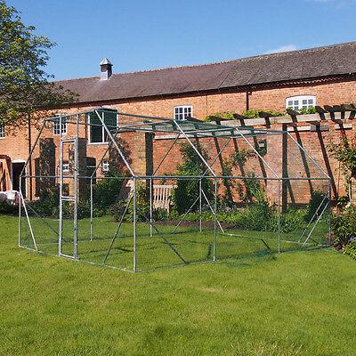 Chicken Run 4M X 3M Walk In Coop For Poultry Dog Rabbit Hen Cage Pen Metal Door