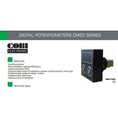 COBI électronique CM22-0-10V Potentiomètre 22 mm 0-10 V Single Turn 001807