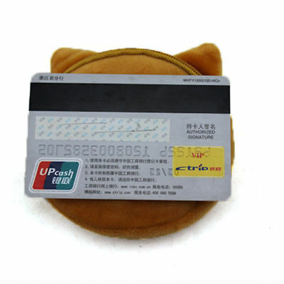 3D Cute Cat Dog Face Shiny Eyes Zipper Xmas Case Card Coin Money Purse Wallets 9
