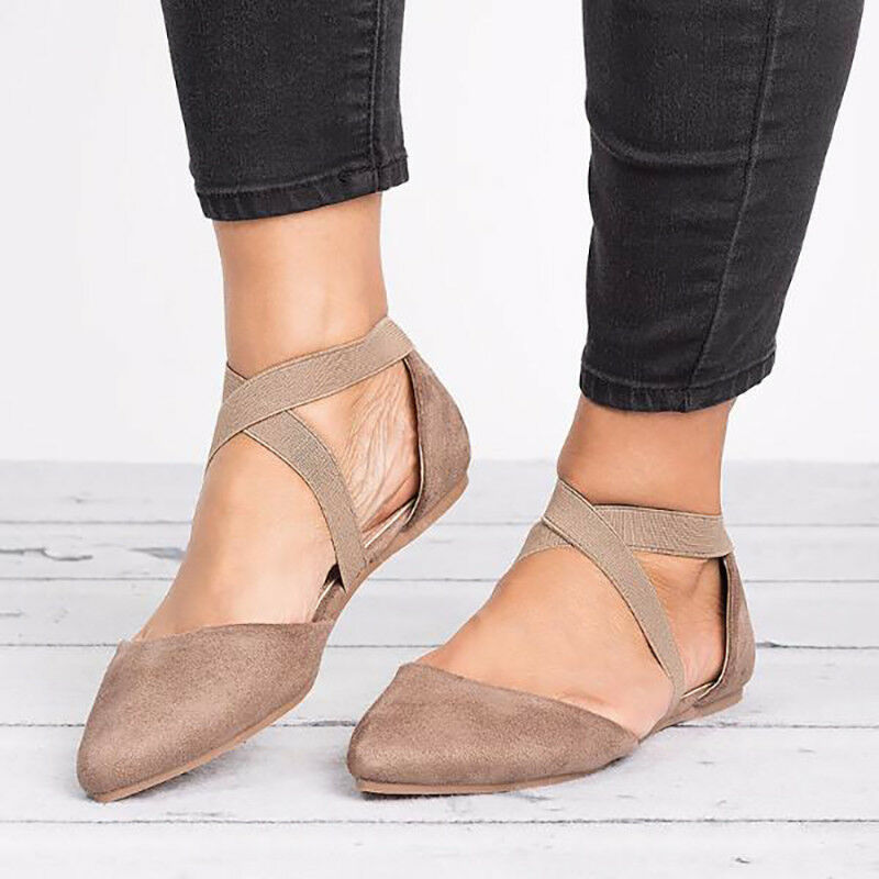 ec73d58b84f9 Fashion Ankle Strap Ballerina Womens Ballet Flats Court Pumps Summer Shoes  Size 8 8 of 11 See More