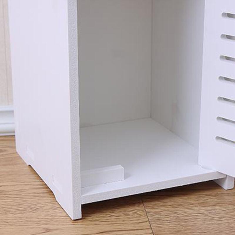 Modern Unit Bathroom Furniture Cabinet Wood Slim Shelf
