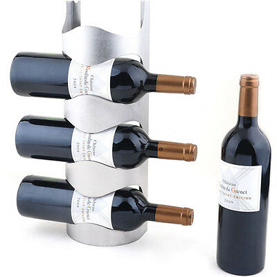 Excellent Houseware Metal Wall Mounted 3/4 Bottle Wine Holder Storage Rack gt 2