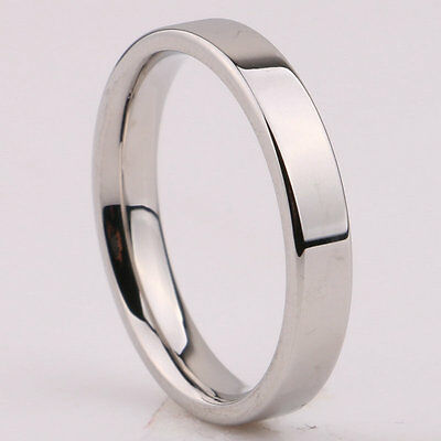 3mm Silver/Gold/Rose Gold/Black Band Women Men's Titanium Steel Engagement Ring 9
