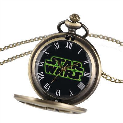 Stars Wars Bronze Pocket Watch Walt Disney Darth Vader Retro Millenniun Falcon 3