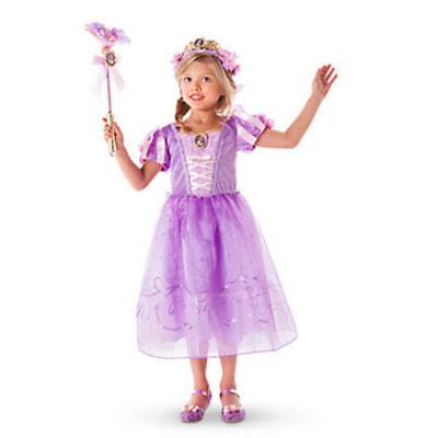 Belle Filles Robe de Princesse Déguisement Rapunzel  Cendrillon Sofia Cosplay 11