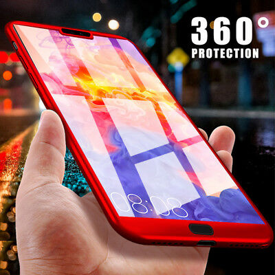 360° Full Cover Case + Tempered Glass For Huawei P9 P10 P20 Lite Mate 20 10 Pro 6
