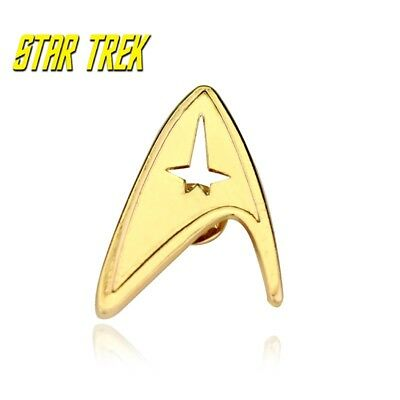 Star Trek Logo Metal Pin brooch Gold color Collectible gift decor cosplay 3