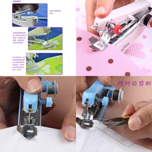 Mini macchina da cucire a mano portatile cordless tessuto portatile WQQ 6