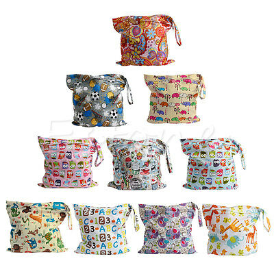 Baby Protable Nappy Washable Nappy Wet Dry Cloth Zipper Waterproof Diaper Bag 2