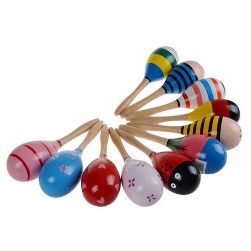 Baby Kinder Sound Musik Spielzeug Geschenk Kleinkind Holz Hammer Rassel San F3I0