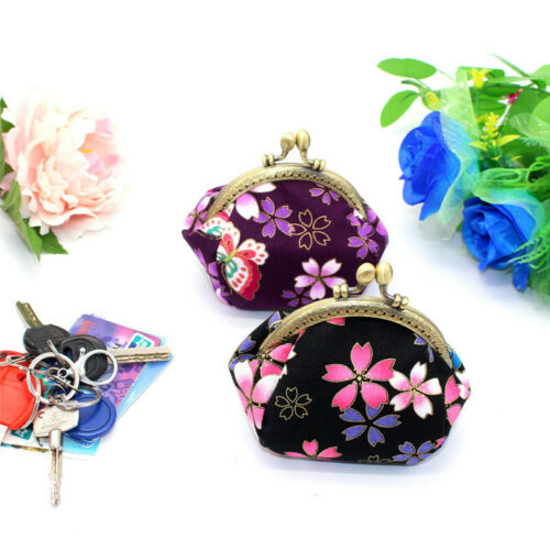 Collectable Handmade Japanese Style Fans Clasp Coin Purse Bag Change Wallets G 5