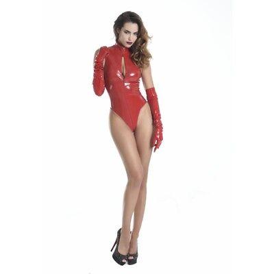 Body super sexy en vinyle rouge référence Manon de la marque Patrice Catanzaro