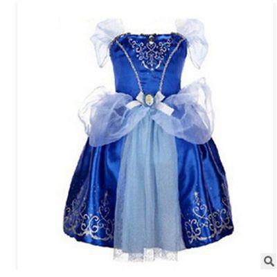 Belle Filles Robe de Princesse Déguisement Rapunzel  Cendrillon Sofia Cosplay 4