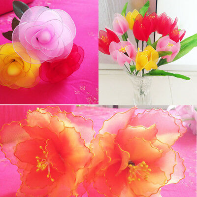 5Pcs 2.3M Nylon Stocking For Making Artificial Mesh Flower Arrangement Stamen 10