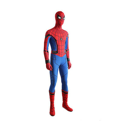 Spiderman Spider-Man:Homecoming Cosplay Costume Halloween full suit with shoes 4
