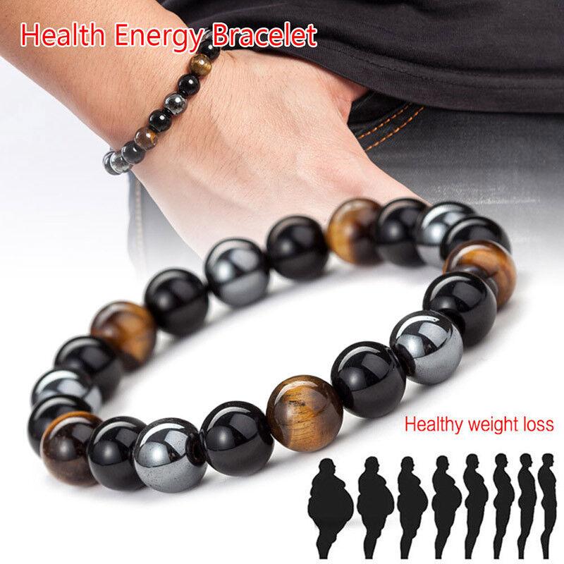 Magnetische Hämatit Stein Perlenarmband Gesundheitswesen Männer Gewichtsver ee S