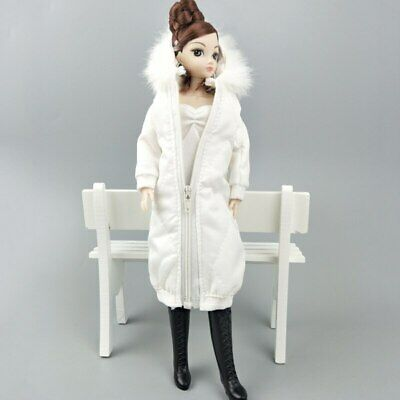 Long Coat Cotton Dress for 11.5in. Doll Clothes Parka For 1/6 BJD Doll Jacket 7