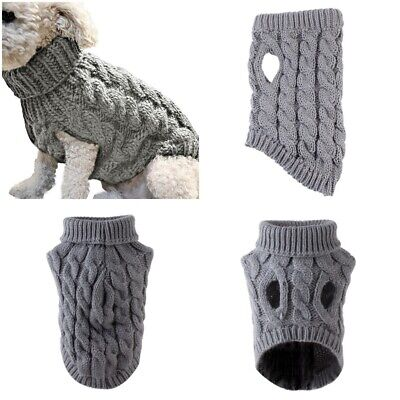Pet Cat Dog Sweater Warm Dog Coat Jumpers Hoodie Cat Clothes for Puppy Small UK 5